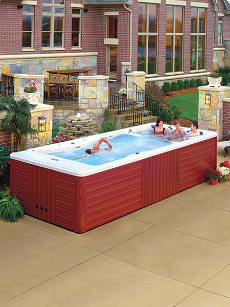 Prefabrik yüzme havuzlarına iyi bir örnek..