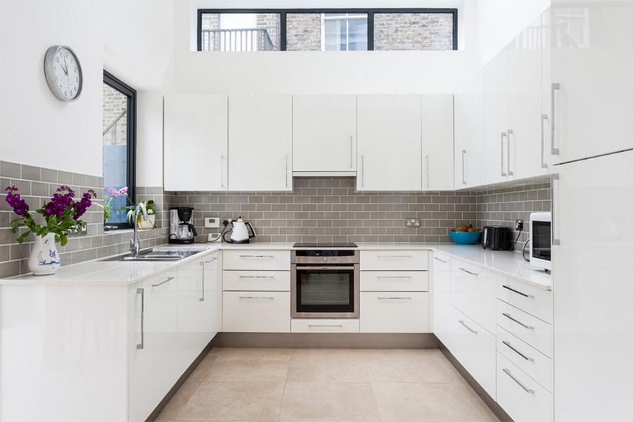 Beyaz Modern Mutfak Görüntüleri