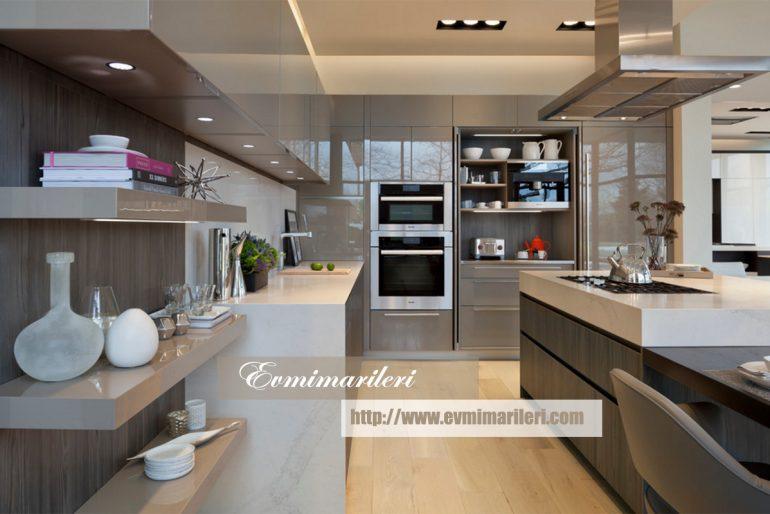 Modern Gri Mutfak Tasarımı