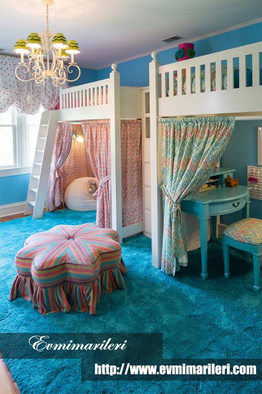 Klasik çocuk odası tasarımı fikri