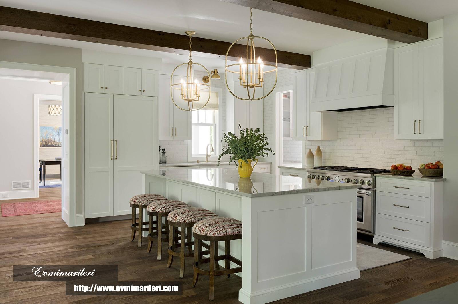 Kullanışlı Beyaz Mutfak Modelleri