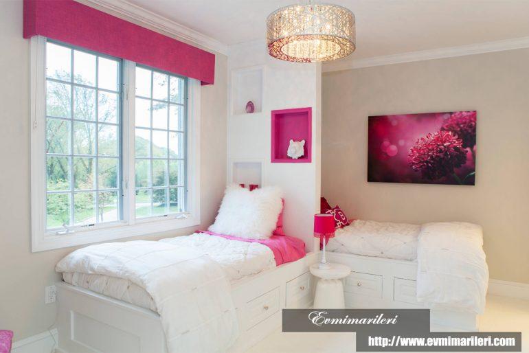 Pembe kız odası dekorasyonu