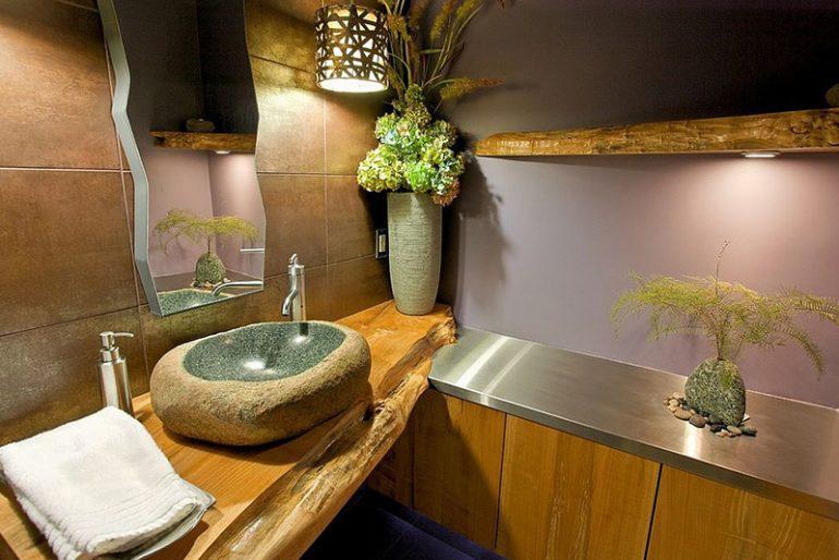 Doğal rustik lavabo