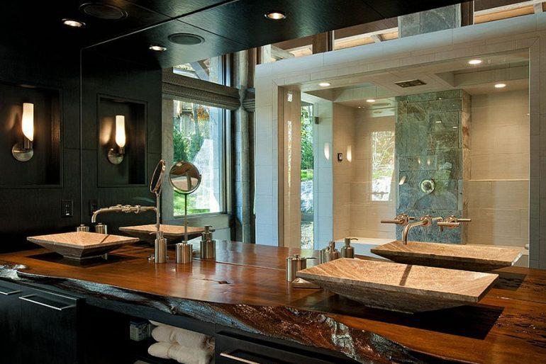 Modern rustik lavabo