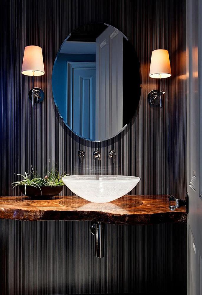 Muhteşem rustik lavabo
