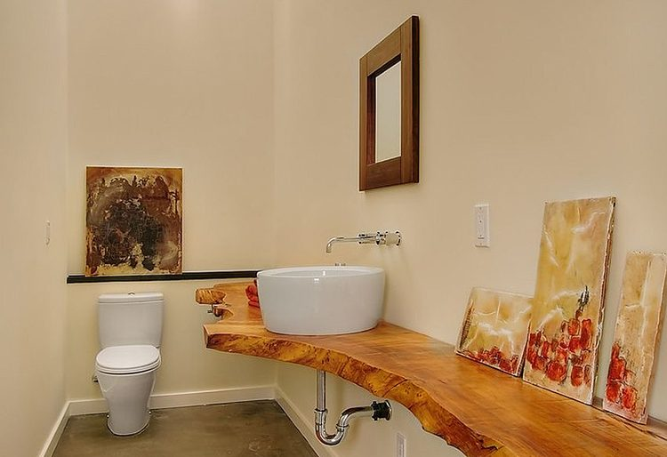 Sade rustik lavabo