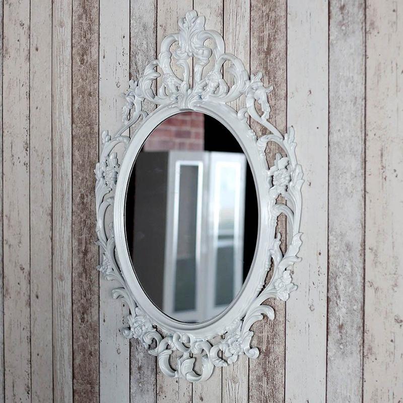 Dekoratif Beyaz Ayna