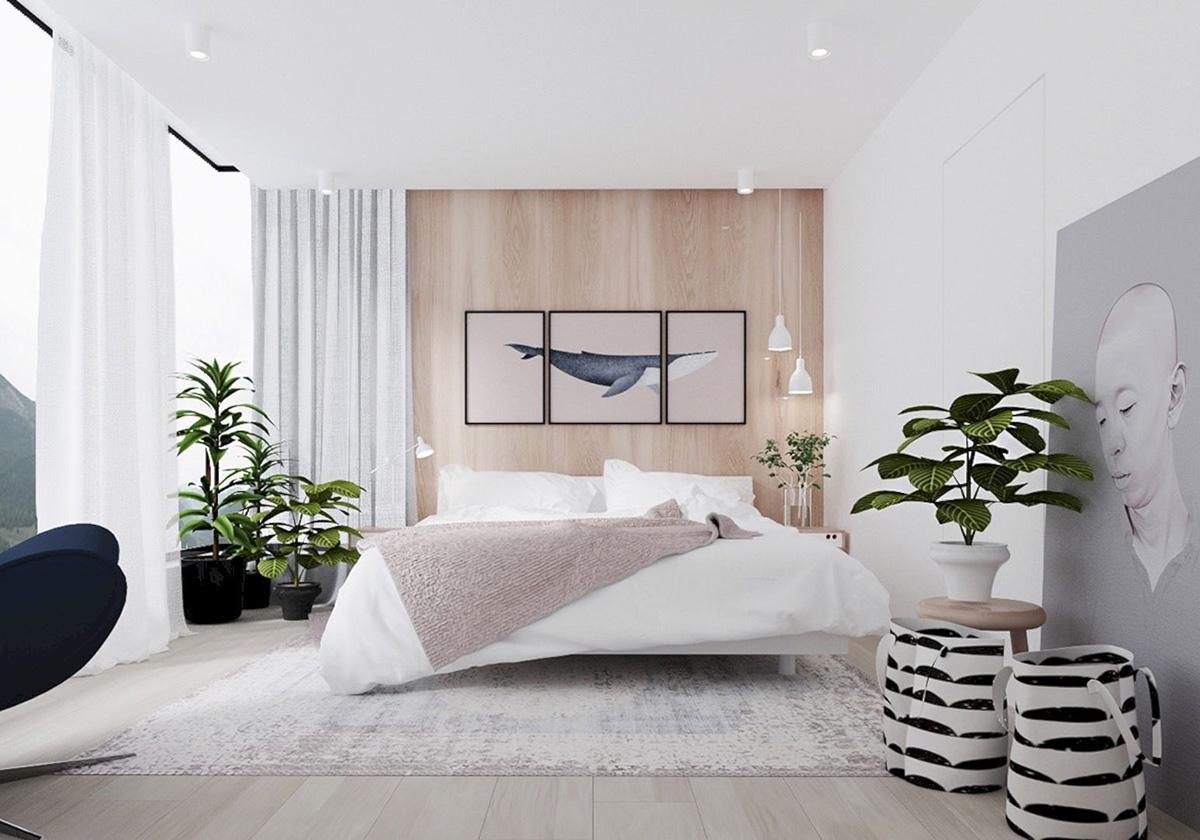 Sade Yatak Odası Dekorasyonları