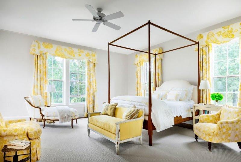 Sarı Renkli Yatak Odası