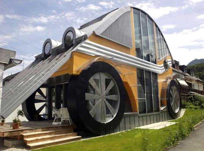 Sıra Dışı ve İlginç 10 Mimari Tasarım - Volkswagen Beetle Ev