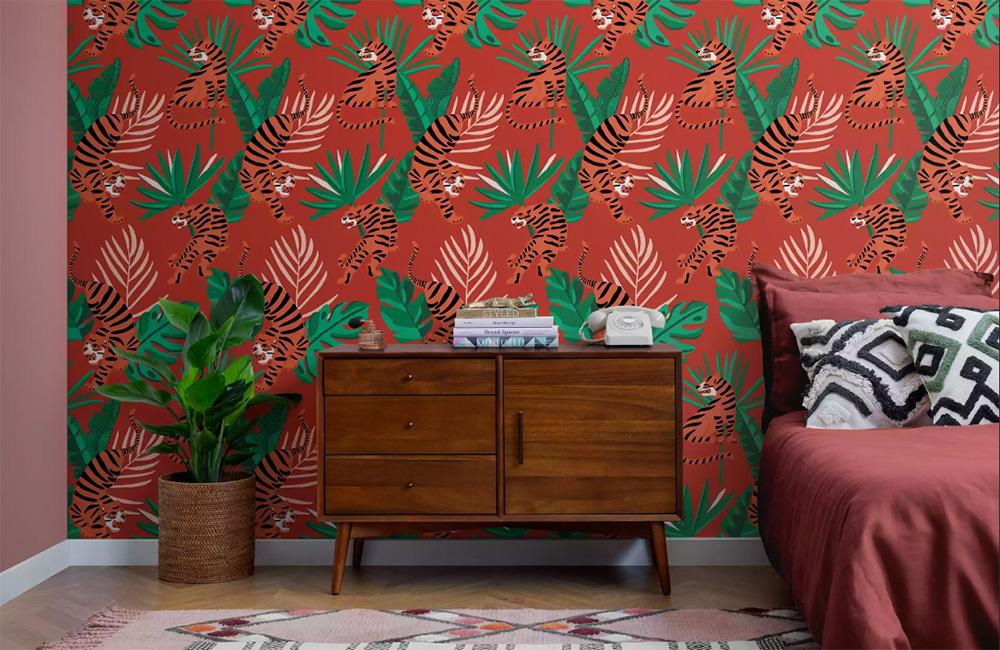Oda Duvarı Dekorasyonu için 10 Fikir. İlginç bir duvar kağıdı örneği