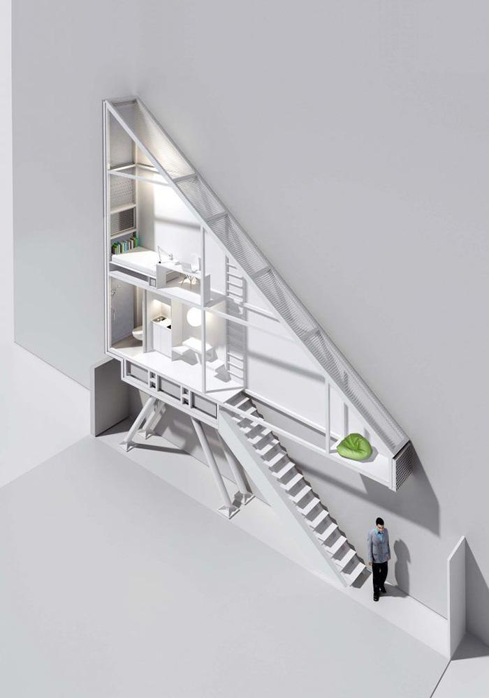 Dünyanın en dar evi. 7 Sıra dışı Ev Tasarımı