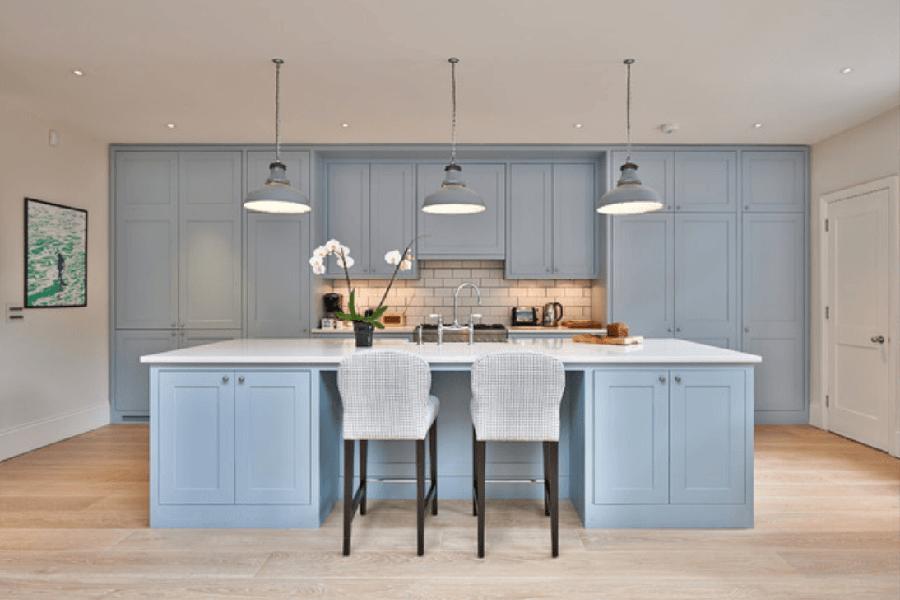 Bebek Mavisi Mutfak. Her Mevsime Uyum Sağlayacak Mutfak Renkleri