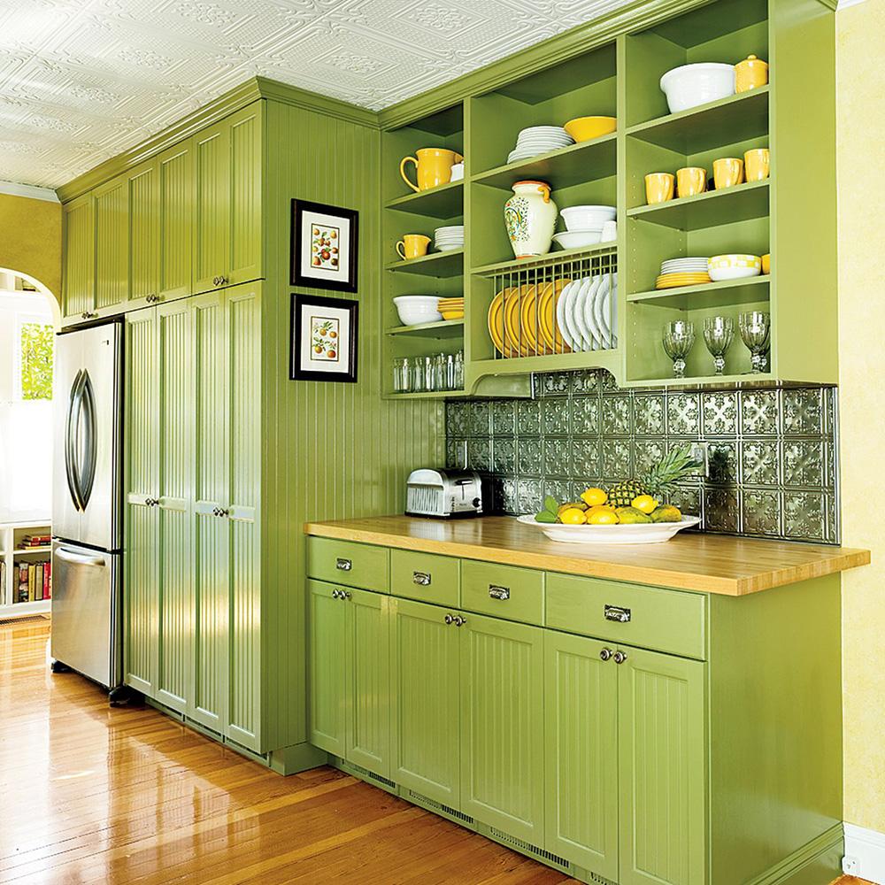 Deniz Köpüğü Yeşili veya Mavisi Mutfak