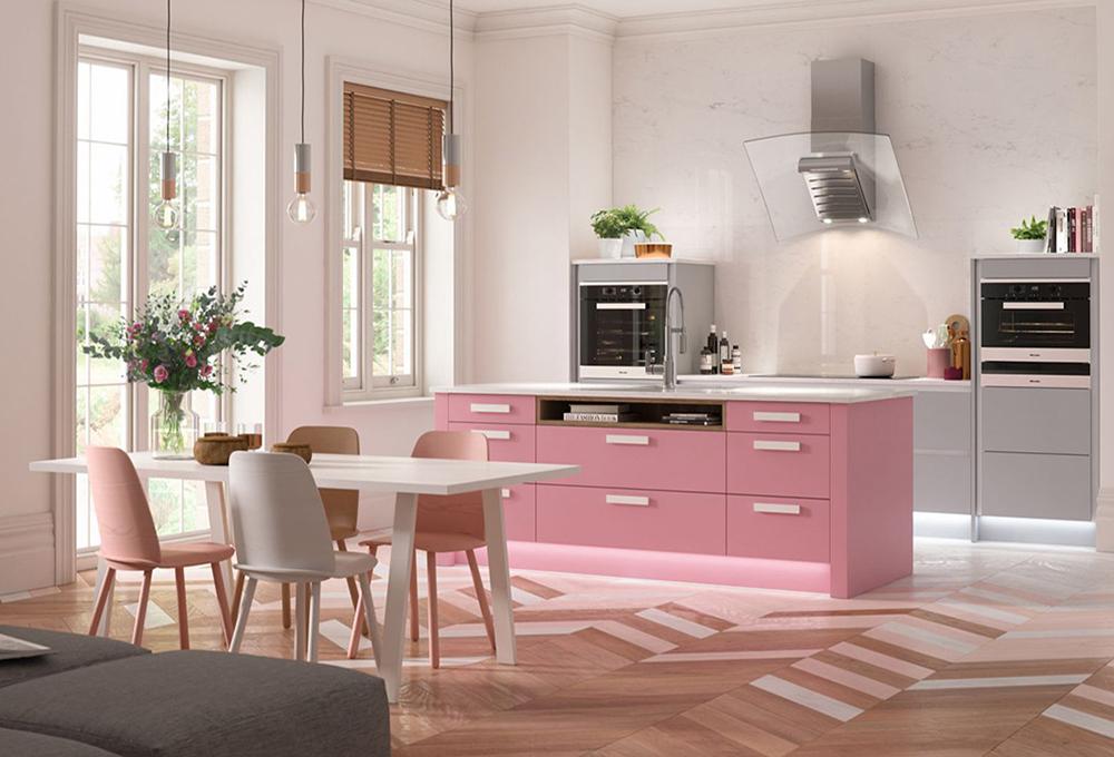 Gül Pembe Mutfak. Her Mevsime Uyum Sağlayacak Mutfak Renkleri