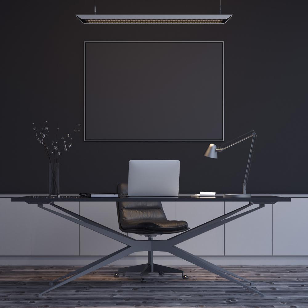 Siyah Renk Ofis Duvarı