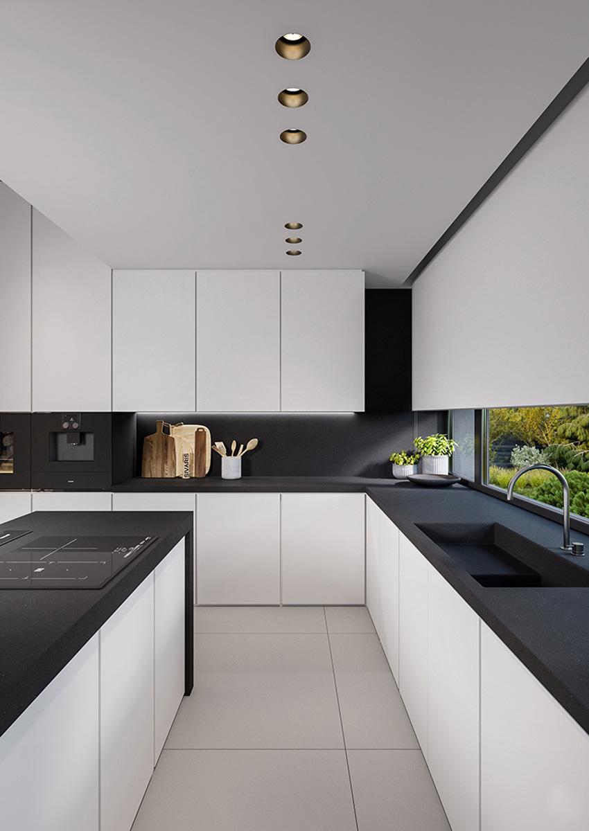 Siyah ve Beyaz Mutfak