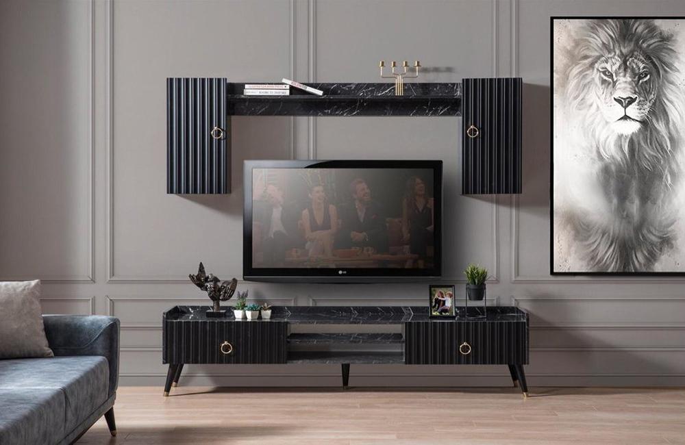 Siyah Tv Ünitesi Modeli