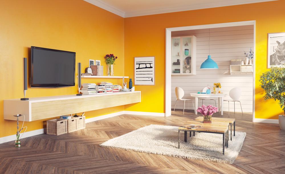 Altın Sarısı Rengine Örnek Salon