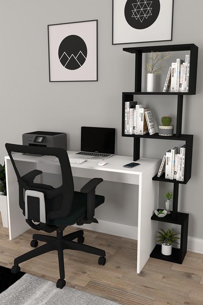 Çalışma masası ve kitaplık