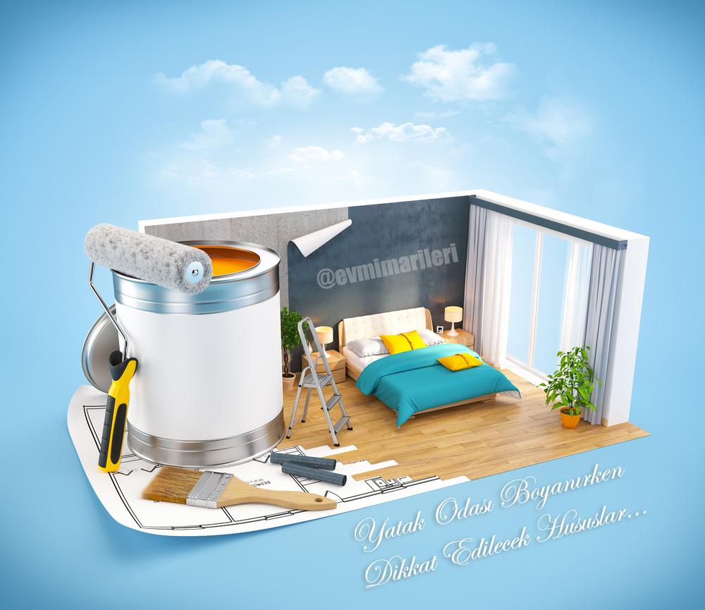 Yatak Odası Boyanırken Dikkat Edilecek Hususlar ve Öneriler