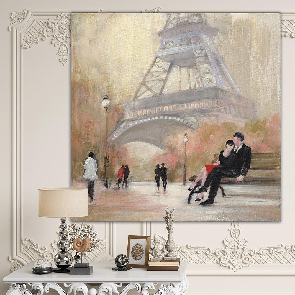Eyfel Kulesi Altında Romantizm